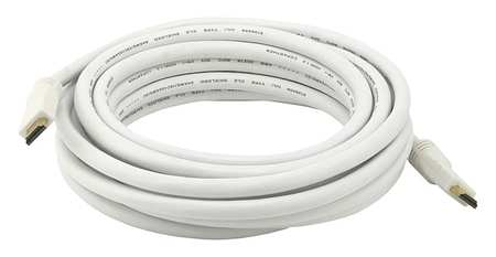 HDMI Cable, Std Speed, White, 20ft, 24AWG