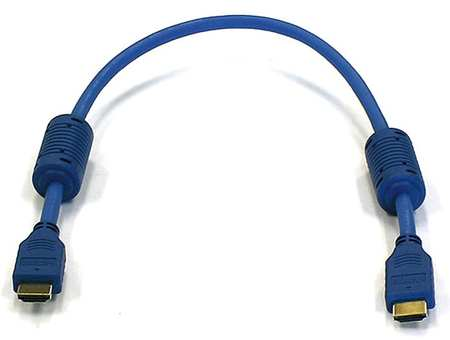 HDMI Cable, Std Speed, Blue, 1.5ft, 28AWG