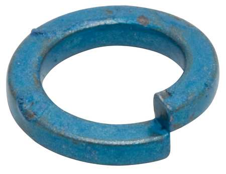 M8 x 12.7 mm OD Steel Metric Blue Finish Hi-Collar Split Lock Washers,  100 pk.