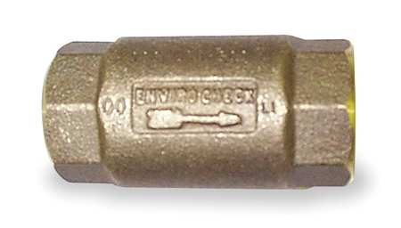 Spring Check Valve, Lead Free Brass, 1-1/4