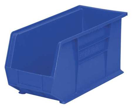 Hang/Stack Bin, H 9,  W 8 1/4, D 18, Blue