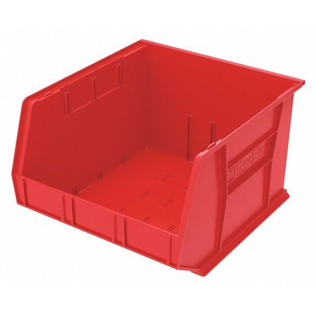 Hang/Stack Bin, H 11,  W 16 1/2, D 18, Red