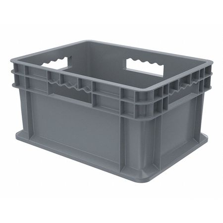 Container, 15-3/4 In. L, 11-3/4 In. W, Gray