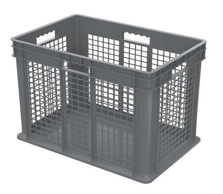 Container, 23-3/4 In. L, 15-3/4 In. W, Gray