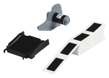 Label Cartridge, Black, Polyester, 2 In. W
