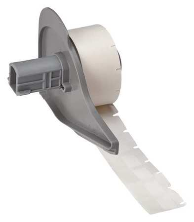 "1/2"" x 3/4"" White on Translucent Cartridge Label"