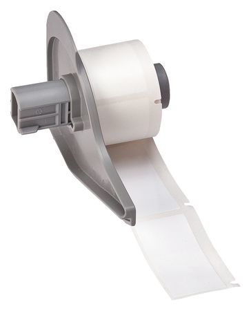 Label Cartridge, White, Polyester, 2 In. W