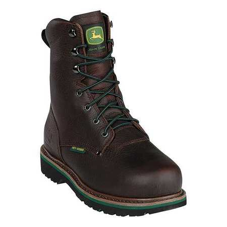 Work Boots, Stl, Met Grd, Mn, 12W, Brn, PR
