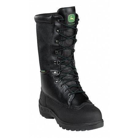 Work Boots, Stl, Mn, 9W, Blk, PR