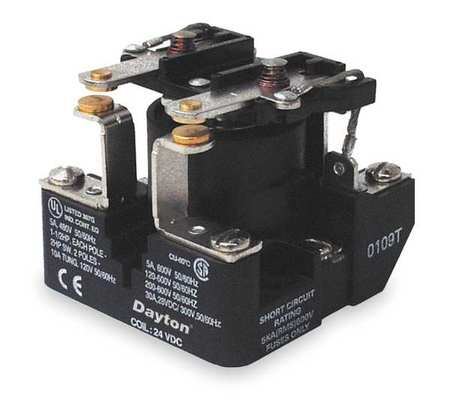 Open Power Relay, 6 Pin, 24VDC, DPST-NO