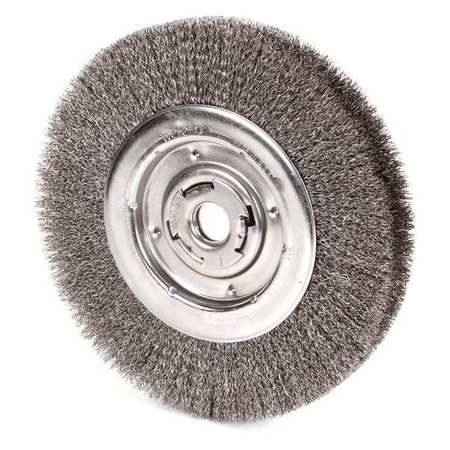 "Wire Wheel Wire Brush,  Arbor,  10"",  0.0118"""