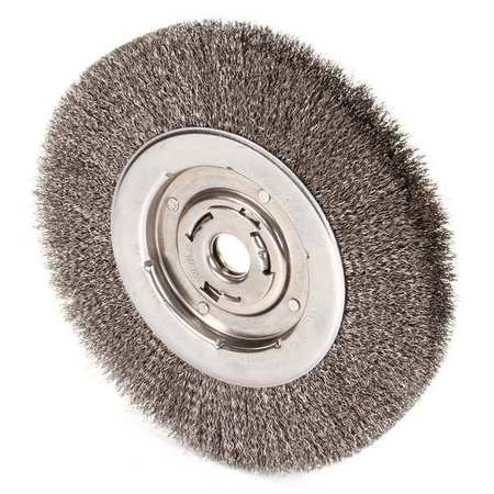 "Wire Wheel Wire Brush,  Arbor,  10"",  0.014"""
