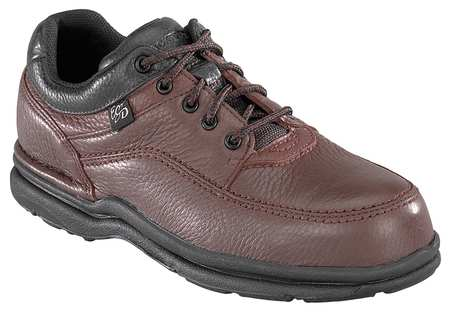 Work Shoes, Stl, Mn, 12W, Brn, PR