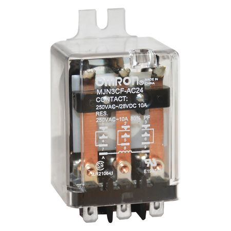 Relay, 11Pin, 3PDT, 10A, 24VAC