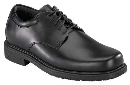 Work/Dress Shoes, Pln, Mens, 9-1/2W, Blk, PR