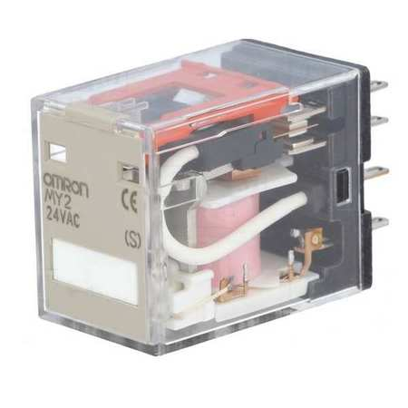 Plug In Relay, 8 Pins, Square, 24VAC