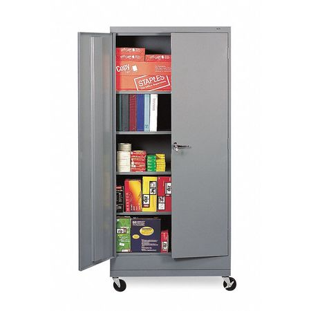 Caster Kit, 36 in W x 18 in D, Med Gray
