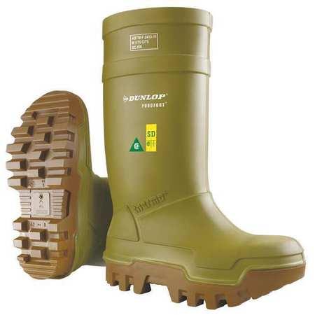 "Knee Boots, Sz 10, 15"" H, Green, Stl, PR"