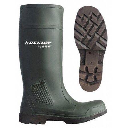 "Knee Boots, Size 8, 15"" H, Green, Plain, PR"