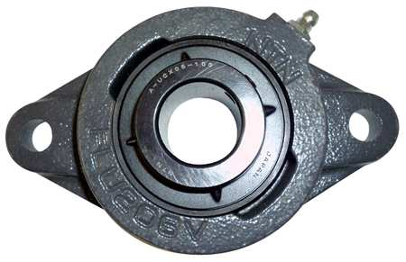 "Flange Bearing, 2-Bolt, Ball, 3/4"" Bore"