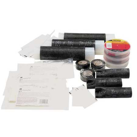 Resin Comp Splice Kit, 10 to 4 AWG, Blk