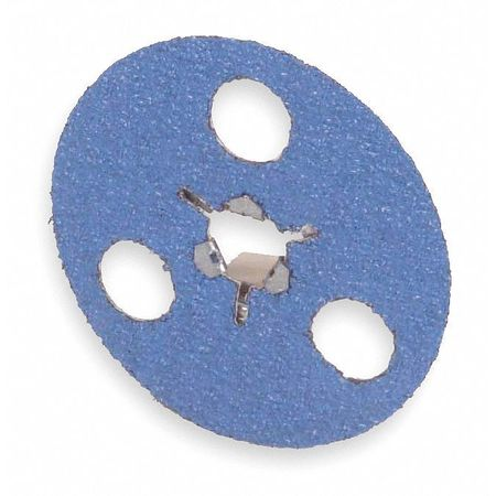Quick Change Disc, ZircAlO, 5in, 80 Grit, TS