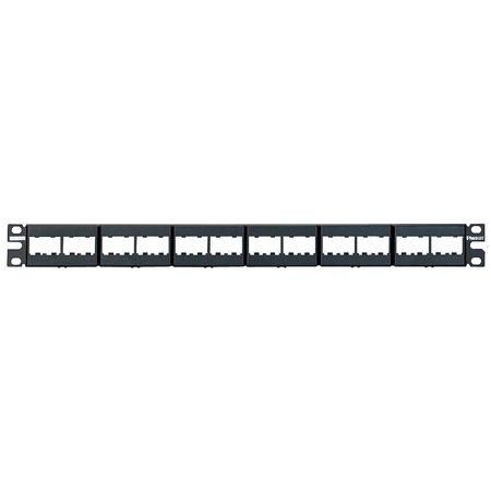 Patch Panel, Mini-Com, Rack Mt, 24 Port