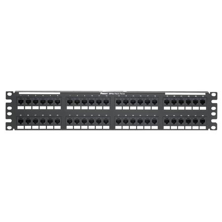 Patch Panel, Cat 6, Rack Mt, 48 Port