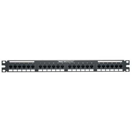 Patch Panel, Cat 6, Rack Mt, 24 Port