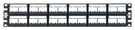 Patch Panel, Mini-Com, Rack Mt, 48 Port