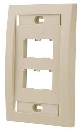 Wall Plate, Single Gang, 4 Ports, Ivory