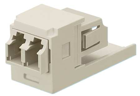 Adapter, Duplex LC Fiber, Electric Ivory
