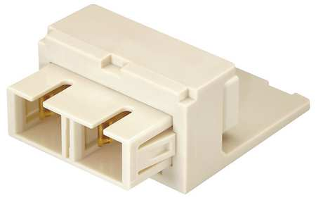 Adapter, Duplex SC Fiber, Off White
