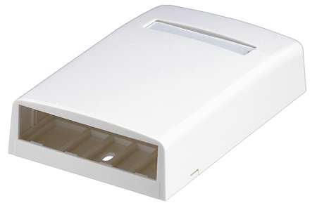 Surface Mount Box, Mini Com, 4Port, Off Wht