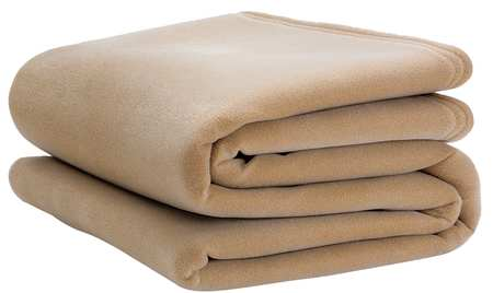 Blanket, Queen, 90x90 In., Tan, PK4