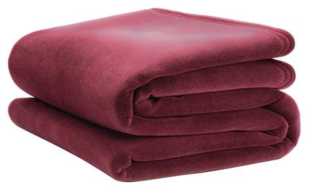Blanket, Twin, 66x90 In., Cranberry, PK4