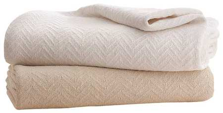 Blanket, Full, 80x90 In., Natural, PK4