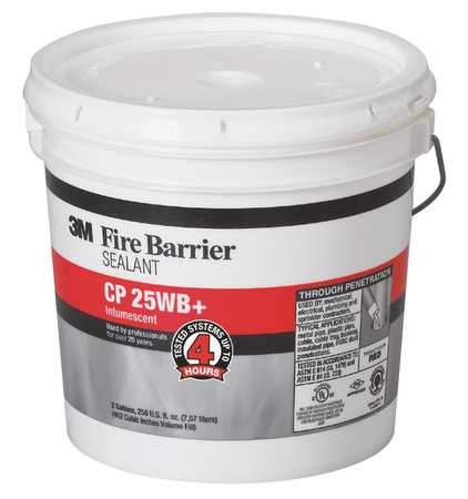 Fire Barrier Sealant, 2 gal., Red-Brown