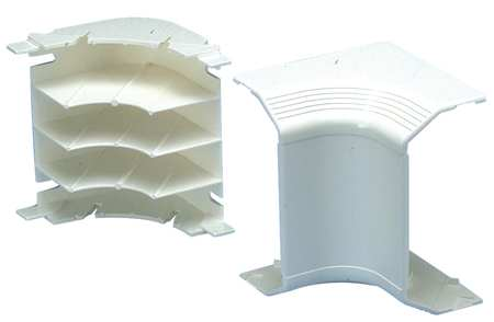 Inside Corner, Off White, PVC, Elbows
