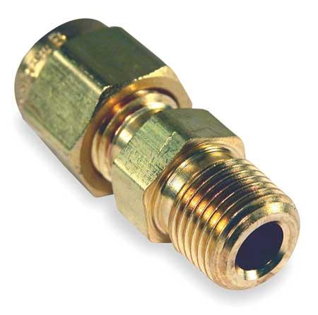 Compression Fitting, 1/8 MNPT, Brass