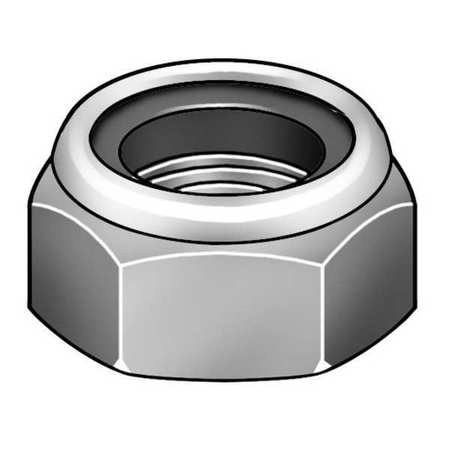 M12-1.75 Plain Finish A4 Stainless Steel Nylon Insert Lock Nut,  10 pk.
