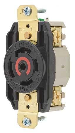 30A Locking Receptacle 4P 5W 277/480VAC L22-30R BK