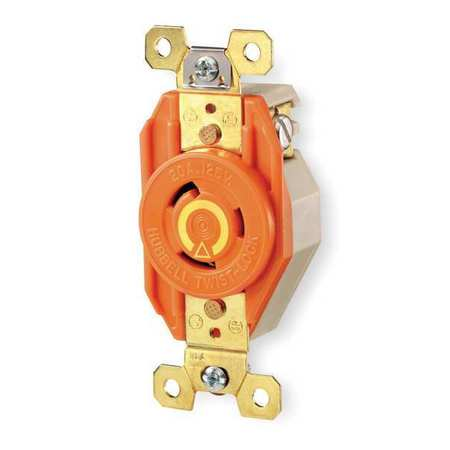 20A Isolated Ground Locking Receptacle 2P 3W 125VAC
