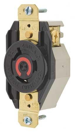 20A Locking Receptacle 2P 3W 480VAC L8-20R BK