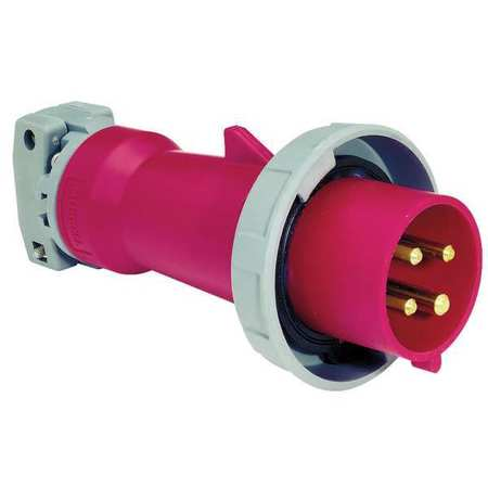 IEC Pin and Sleeve Plug, 3P, 4W, 30A, 480V
