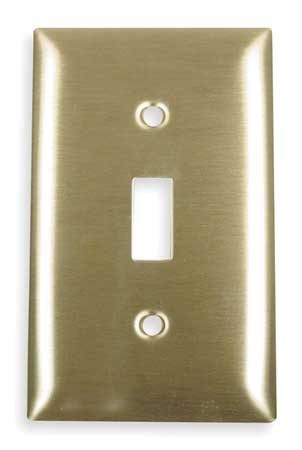 Toggle Switch Wall Plate, 1 Gang, Brass