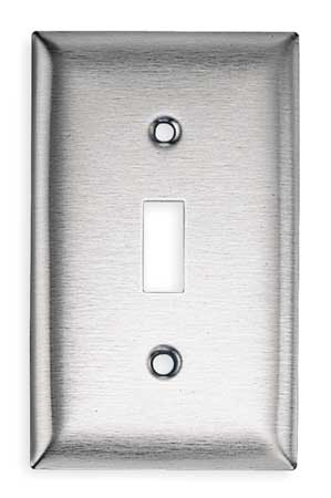Toggle Switch Wall Plate, 1 Gang, Silver
