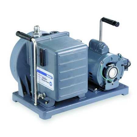 Vacuum Pump, 1/2 HP, 5.6 cfm, 115/230V
