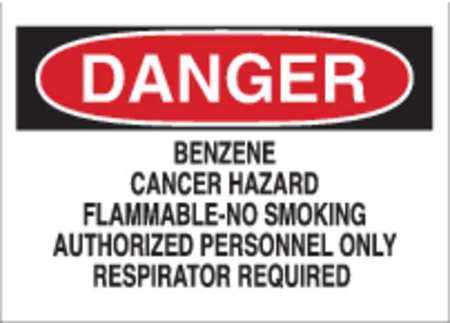 Danger Sign, 7 x 10In, BK and R/WHT, AL, ENG