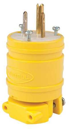 3 Wire Flip Seal Straight Blade Plug 125VAC 15A